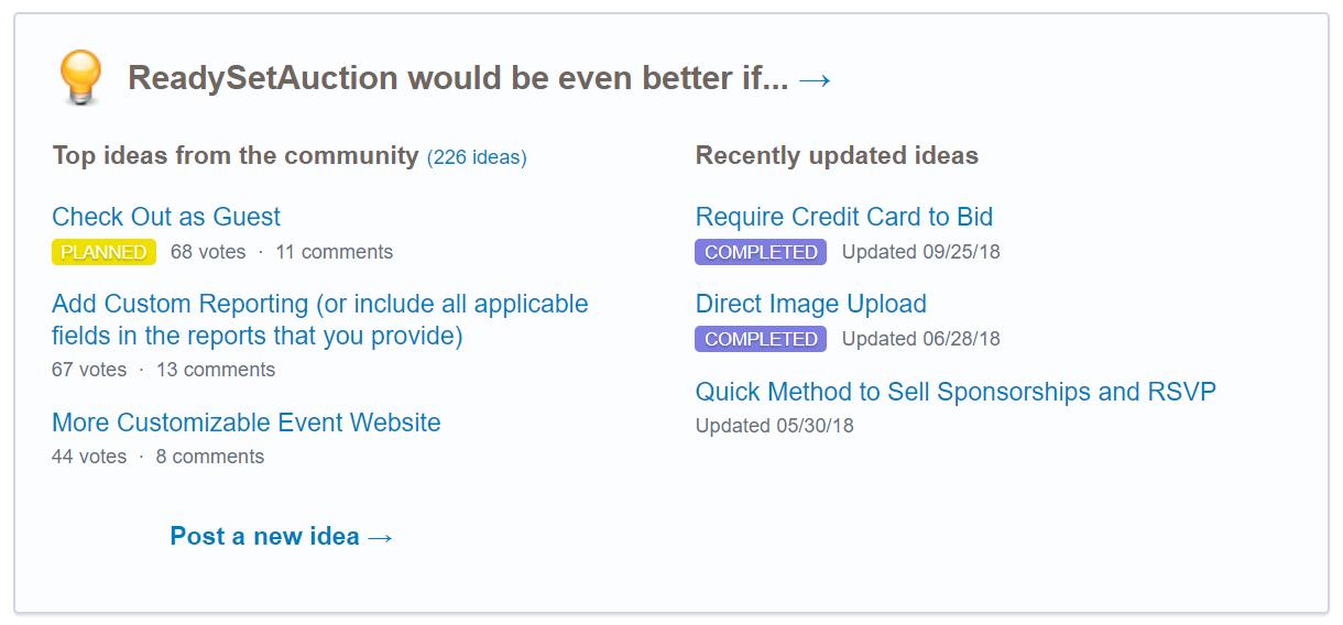 Check Out RSA Uservoice